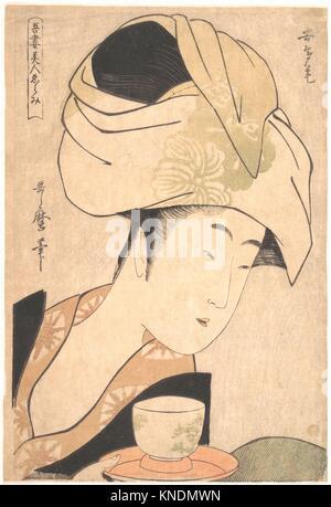 Une serveuse de thé. Artiste: Kitagawa Utamaro (1753?-1806, Japonais); période: période Edo (1615-1868); Date: Banque D'Images