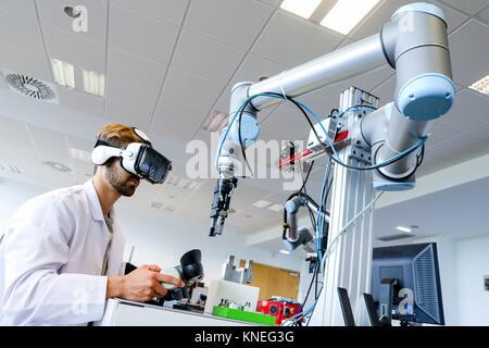 Lunettes de réalité virtuelle Chercheur, VR, robot humanoïde pour tâches  d assemblage automobile e7f42b262652