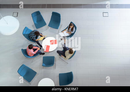 Vue supérieure de l'installation de génie en réunion Banque D'Images