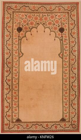 Panneau Kalamkari avec Niche. Nom de l'objet: Panneau de configuration; Date: fin 17ème-début du 18e siècle; Banque D'Images