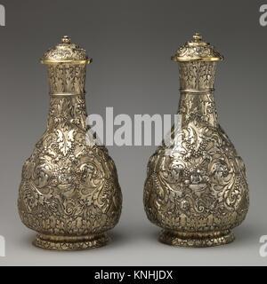 Paire de flacons avec couvercles. Bouilloire: attribué à Thomas Jenkins (actif 1668-1708); Date: ca. 1675; Culture: Banque D'Images