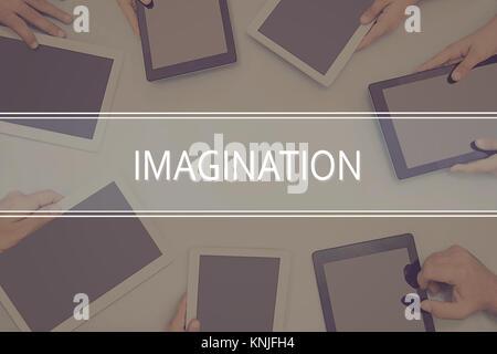 CONCEPT D'IMAGINATION Concept d'entreprise. Banque D'Images