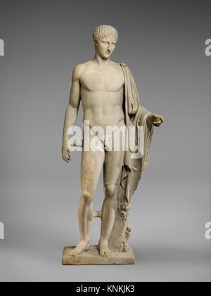 Statue en marbre d'Hermès. Copie de travail attribuée à Polykleitos; période: Imperial; Date: 1er ou 2ème siècle Banque D'Images