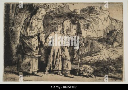 Le Christ entre ses parents, de retour de la Temple. Artiste: Rembrandt Rembrandt (van Rijn) (Néerlandais, Leyde Banque D'Images