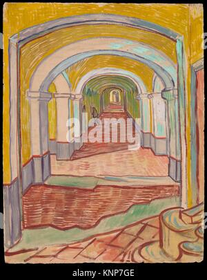 Dans le couloir de l'asile. Artiste: Vincent van Gogh (Néerlandais, Zundert 1853-1890 Auvers-sur-Oise); Date: Banque D'Images