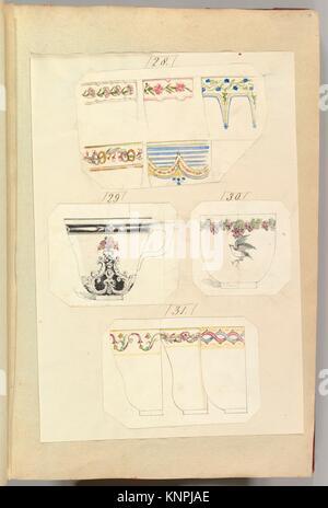 Dix modèles de tasses décorées, y compris l'Osborne. Artiste: Alfred Henry Forrester [Alfred Crowquill] (britannique, Banque D'Images