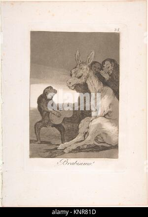 "38 Plaque de ""Los Caprichos"": Bravo! (Brabisimo!). Series/portefeuille: Los Caprichos. Artist: (Goya Francisco Banque D'Images"