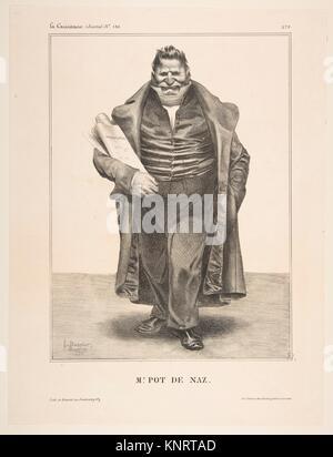 De Podenas, publiée dans La Caricature no. 130, 2 mai 1833. Artiste: Honoré Daumier (Français, 1808-1879); Valmondois Banque D'Images