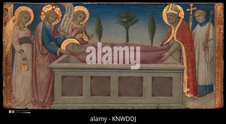 L'enterrement de Sainte Marthe. Artiste: Sano di Pietro (Ansano di Pietro di Mencio) (Italien, Sienne Sienne 1405 Banque D'Images