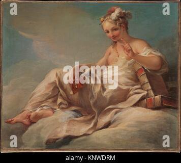 La comédie. Artiste: Pierre Charles Trémolières (Français, Cholet 1703-1739 Paris); Date: ca. 1736; Medium: Huile sur toile, agrandi; Dimensions: 18 3/4 x 23