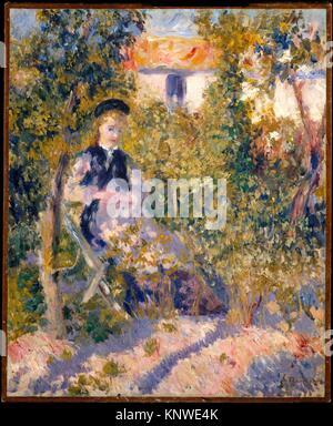 Dans le jardin (Nini Nini Lopez). Artiste: Auguste Renoir (Français, Limoges 1841-1919 Cagnes-sur-Mer); Date: Banque D'Images