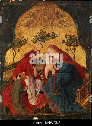 Vierge à l'enfant avec un donateur présenté par saint Jérôme. Artiste: Maître des bavarois de Munich (Bavière, panneaux, Munich probablement mi-15ème active