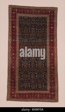 Millefleur tapis avec une fleur-et-Trellis Pattern. Nom de l'objet: tapis; Date: fin 18ème-début du 19ème siècle; Banque D'Images
