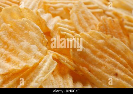 Arrière-plan de l'alimentation Chips Banque D'Images