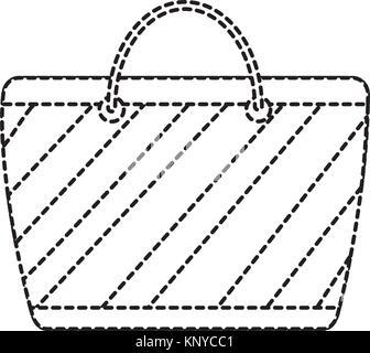 Accessoire sac de plage à rayures dessin animé Banque D\u0027Images