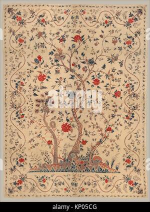 La pendaison ou couvre-lit. Nom de l'objet: la pendaison ou couvre-lit; Date: fin du 18e siècle; Géographie: Banque D'Images