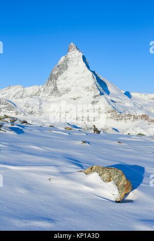 Matterhorn - 4478 m, Zermatt, Valais, Suisse. Banque D'Images