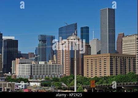 Le centre-ville de Houston, Texas, États-Unis d'Amérique, Amérique du Nord. Banque D'Images
