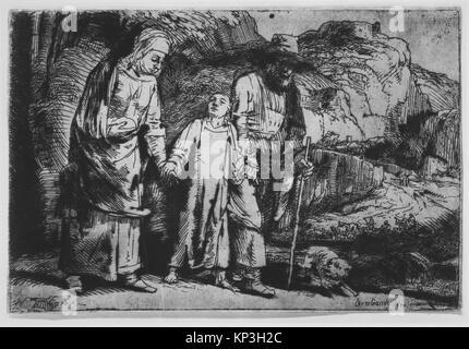 Le Christ entre ses parents, de retour de la Temple RENCONTRÉ MM10467 343137 Banque D'Images