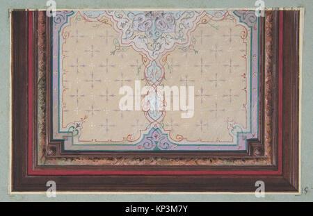 Design pour le décor peint d'un plafond avec des éclats et filagree rencontré DP811307 384946 Banque D'Images