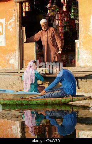 Dal Lake, à Srinagar, Jammu-et-Kasmir, Inde. Banque D'Images