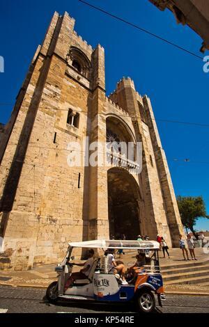 La Cathédrale de Lisbonne, Santa Maria Maior de Lisboa ou sé de Lisboa, la sé, La Cathédrale Patriarcale de Sainte Banque D'Images