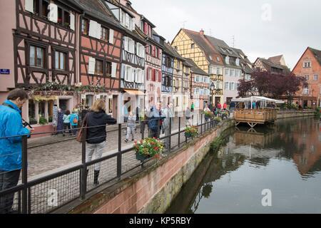 Village de Colmar en Alsace France Banque D'Images
