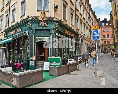 Pub Engelen à Gamla Stan, Stockholm, Suède. Banque D'Images