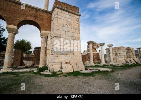 Basilique de Saint John, Selçuk, Izmir, Turquie Province. Banque D'Images