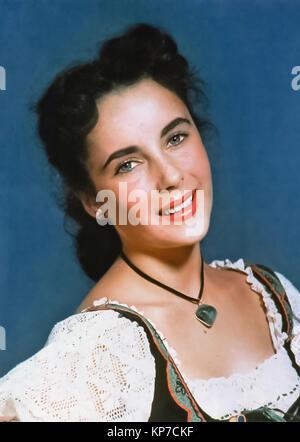 ELIZABETH TAYLOR (1932-2011) Actrice anglo-américaine à propos de 1947