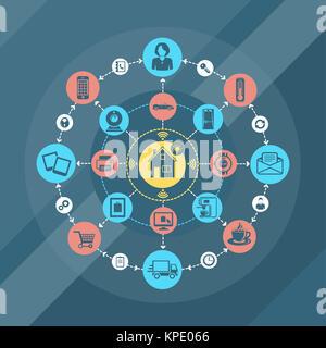 Smart home et internet des objets concept Banque D'Images