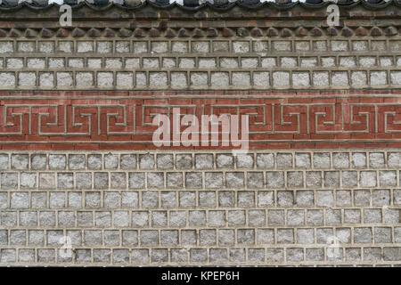 Mur de bukchon traditionnels Banque D'Images