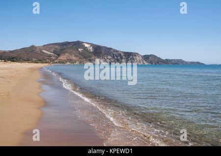 Vue de la baie de Laganas à partir de la plage de Kalamaki zakynthos Banque D'Images