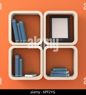 Concept lecteur de livre électronique Banque D'Images