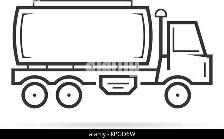 Fine ligne tank véhicule doit Banque D'Images