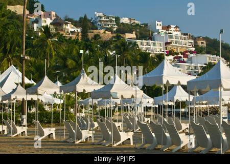 Manzanillo, Colima, Mexique. Melia Las Hadas Resort Beach Area / Matin Banque D'Images