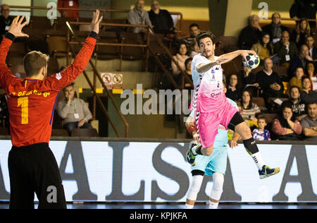 Leon, Espagne. 16 Décembre, 2017. Ignacio moya (Guadalajara) en action pendant la match de hand d'espagnol 2017 Banque D'Images