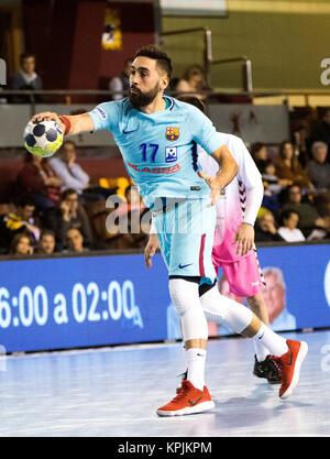 Leon, Espagne. 16 Décembre, 2017. Valero Rivera (FC Barcelone) en action pendant la match de hand d'espagnol 2017 Banque D'Images