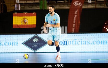 Leon, Espagne. 16 Décembre, 2017. Raul Entrerrios (FC Barcelone) au cours de la match de hand d'espagnol 2017-2018 Banque D'Images