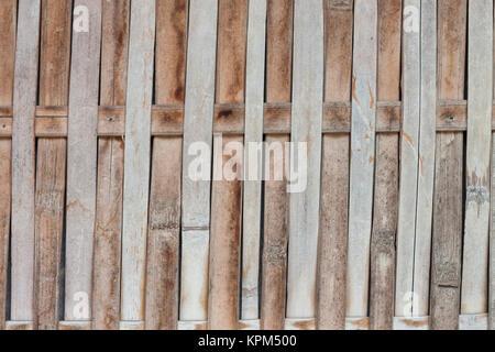 Arrière-plan de clôture de bambou Fermer Banque D'Images