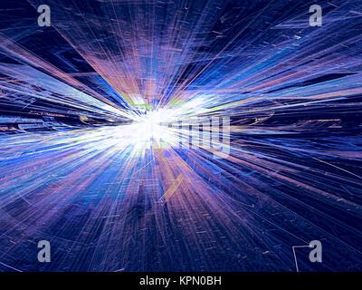 Résumé Contexte La technologie de couleur vive image générée numériquement Banque D'Images