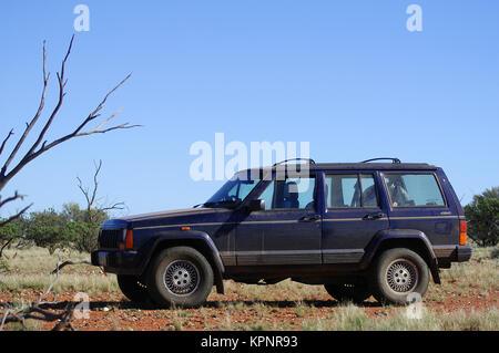 4x4 dans le bush australien Banque D'Images