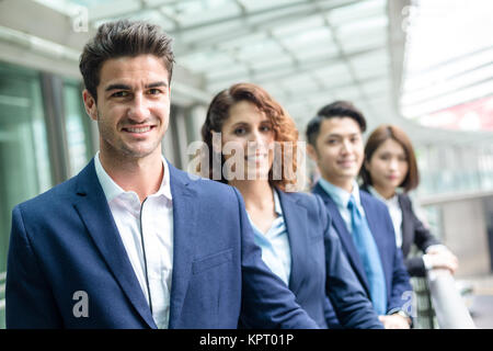 Groupe de gens d'affaires de différents pays Banque D'Images