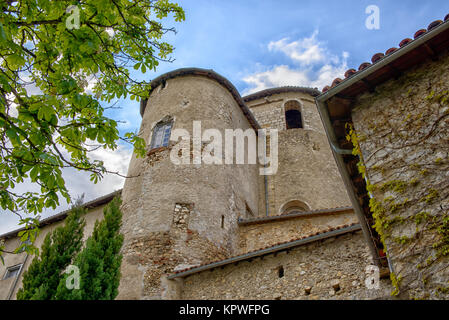 Tour d'un vieux château en France Banque D'Images