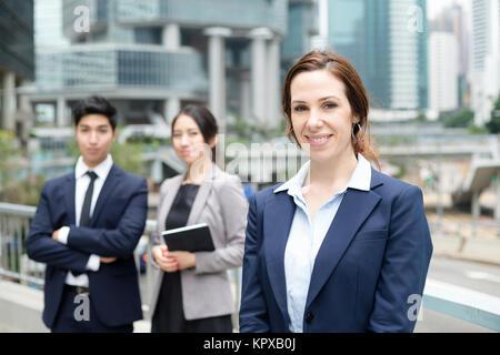L'équipe commerciale de la diversité Banque D'Images