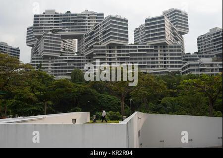 """14.12.2017, Singapour, République de Singapour, en Asie - le complexe résidentiel """"l'Interlace' qui a été conçu Banque D'Images"""