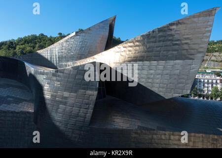 Musée Guggenheim Bilbao.Espagne.:architecte Frank Gehry Banque D'Images