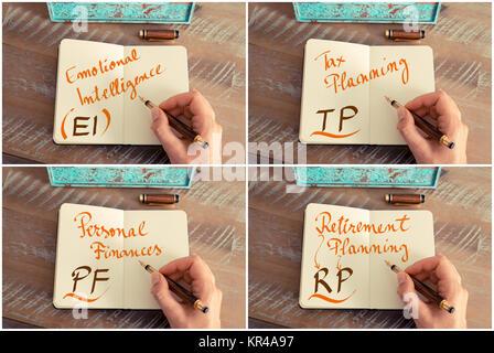 Collage Photo d'affaires acronymes écrit sur ordinateur portable
