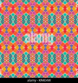 Géométrique multicolore motif transparent Banque D'Images