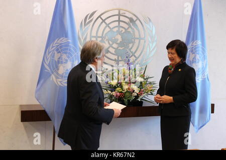 Nations Unies, New York, USA. Déc 19, 2017. Le nouvel ambassadeur de la Pologne auprès de l'ONU Joanna Wronecka Banque D'Images